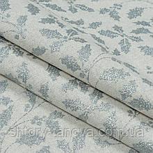 Декоративная новогодняя ткань с рождественским принтом серебряные листья падуба для штор, подушек, скатертей
