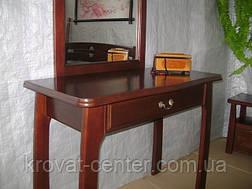 """Туалетный столик """"Микель"""" (столик, пуфик, зеркало). Массив - сосна, ольха, береза, дуб., фото 2"""
