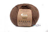 Gazzal Baby Alpaca, Коричневый №46002