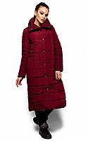 Тепла подовжена марсалова куртка Alma (S, M, L)
