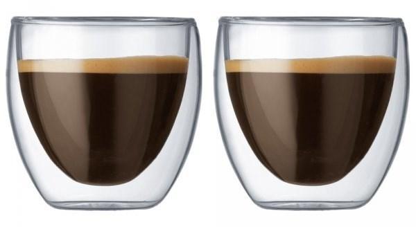 Набор стаканов с двойными стенками 80 мл Bodum