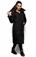 Тепла подовжена чорна куртка Alma Розпродаж (L)
