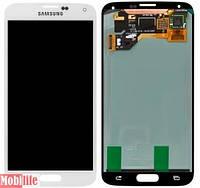 Дисплей для Samsung G900A Galaxy S5, G900F, G900H, G900I, G900T с сенсором белый