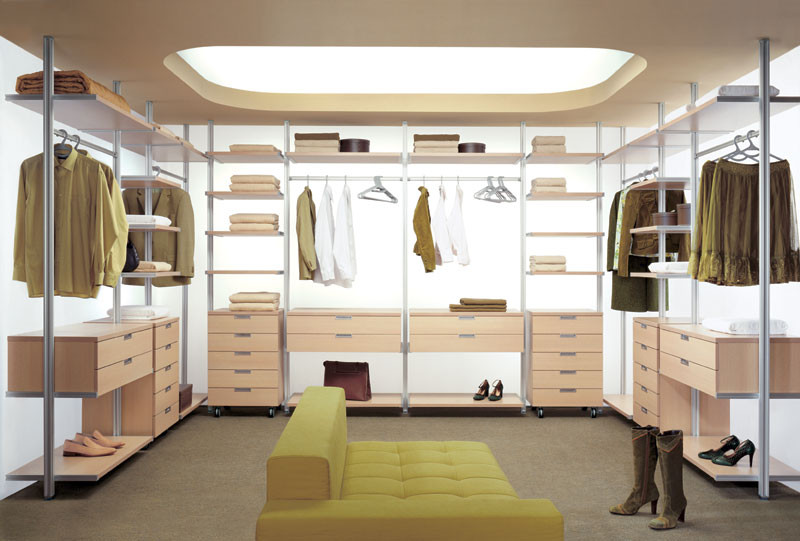 Колонная алюминиевая гардеробная система