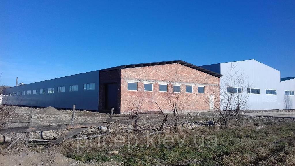Швидкомонтовані виробничо-складські приміщення. Профнастил.