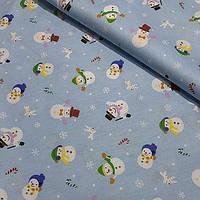 Новогодний текстиль Дед мороз на синем