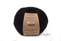 Турецкая пряжа Gazzal Baby Alpaca черный №46000, фото 1