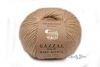 Турецкая пряжа Gazzal Baby Alpaca бежевый №46005