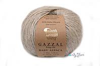 Турецкая пряжа Gazzal Baby Alpaca серо-бежевый №46014