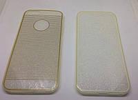 Apple iPhone 5G Накладка пластик с силиконом с линиями
