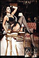 Элегантные чулки в сетку с графичеким узором Black Net Graphic Patterned Stockings