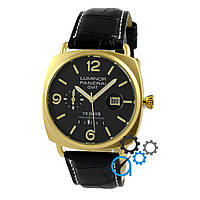 Часы  Panerai Luminor Marina Quartz Date 10 Days Black-Gold-Black