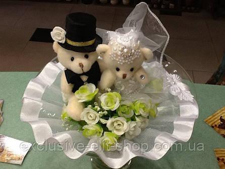 Свадебный букет: Мишки