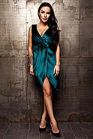 Бархатное стильное женское платье Винченса, фото 1