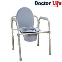 Стул туалетный складной стальной Doctor Life