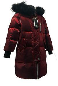 Стильний дитячий зимовий комбінезон для дівчинки розміри 120-160