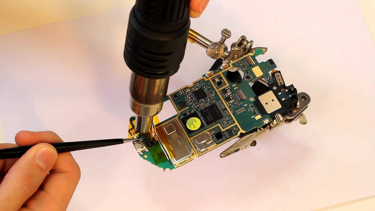 Замена USB разъема (гнезда) зарядки