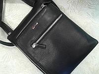 Кожаная сумка черная стильная фирмы Desisan