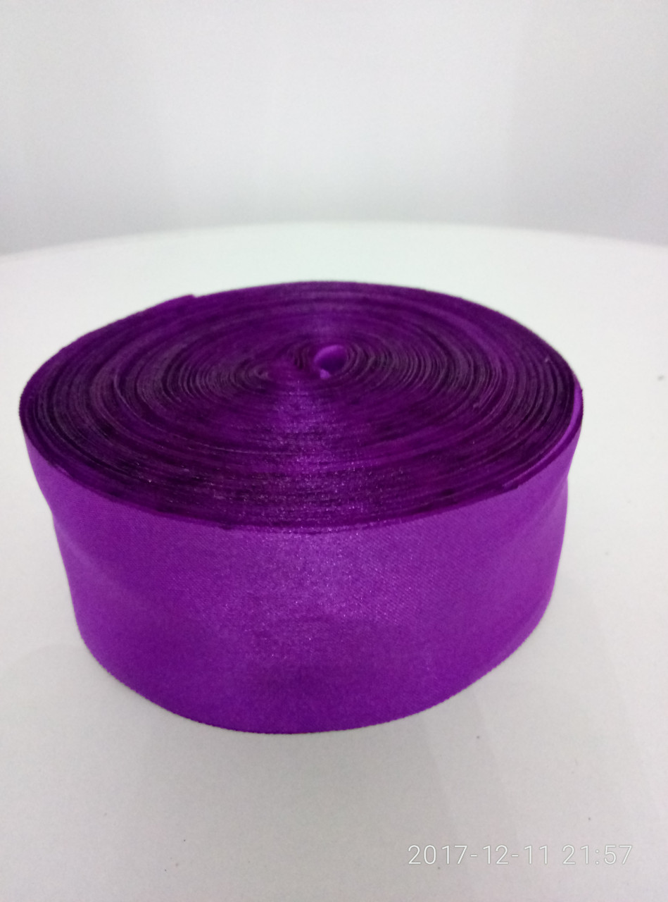 Лента фиолетовая атласная 5см.