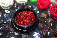 """Блестки-палочки """"Красные"""" в баночках цветные"""