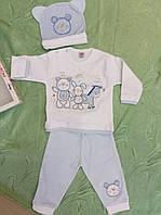 """Трикотажный домашний костюм для мальчика """"Зоопарк"""" Ladora  от 3 до 6 месяцев"""