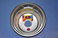 Кухонная мойка врезная круглая 51 декор MIRA