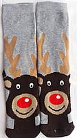 Мужские рождественские носки на подарок махровые теплые на новый год
