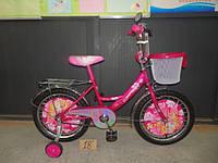Новинка! Детский двухколесный велосипед Azimut Принцесса 14 дюймов