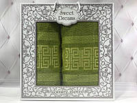 Подарочный набор полотенец Sweet Dreams (баня+лицо) № 32566
