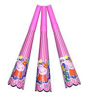 """Горны карнавальные """"Peppa Pig"""". В упак: 8 штук."""