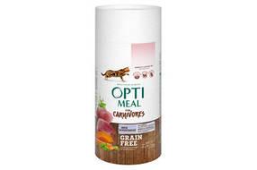 Optimeal (Оптимил) корм for carnivores - беззерновой корм оптимил с уткой и овощами для кошек, 650г