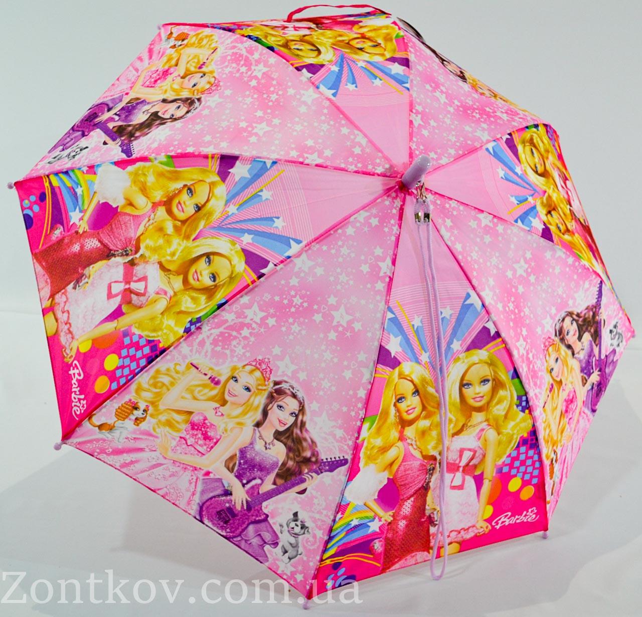 """Дитячий парасольку тростину """"Barbie"""" на 5-9 років з пластикової спицею від фірми """"SunnRain"""""""