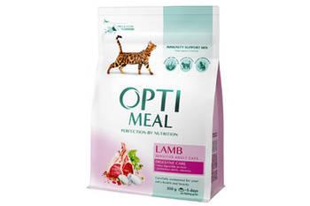 Сухой корм Optimeal Оптимил для кошек с чувствительным пищеварением ягненок, 10 кг