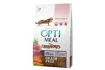 Сухой корм Optimeal Оптимил беззерновой для кошек утка и овощи, 300 г