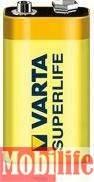 Батарейка Varta 9V Krona 6F22 Carbon-Zinc Superlife пленка 02022101301