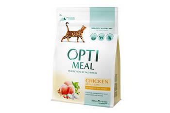 Сухой корм Optimeal Оптимил  для кошек с курицей, 4 кг