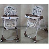Детский стульчик Bambi M 3233-6 для кормления, коричневый