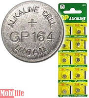 GP Batteries 164, LR620, AG1 ALKALINE 10шт Цена 1шт