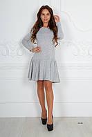 Теплое женское платье  592 (50) Код:395614015