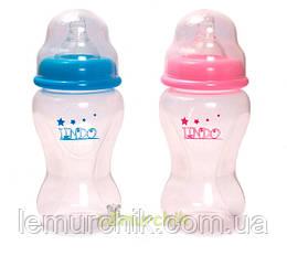 Бутылочка для кормления с антиколиковой соской Premium 400 мл Lindo