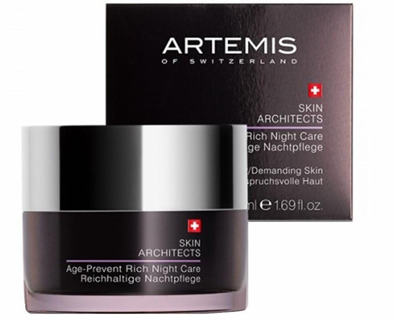 Ночной крем для лица, обогащенный, Артемис Скин Аркитектс, Швейцария, 50 мл