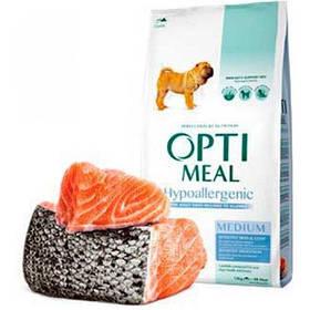 Optimeal (Оптимил) корм гипоаллергенный для взрослых собак средних пород с лососем, 0,65 кг