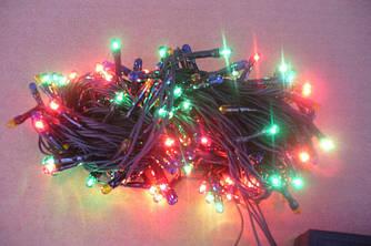 Разноцветная новогодняя гирлянда на 100 лампочек