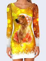 Платье Новогодняя собака