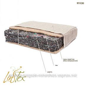 Матрас льняной Линтекс 100х190 футон h 6 см, фото 3
