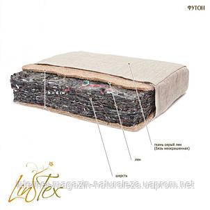 Матрас лен Линтекс 110х190 футон h 6 см, фото 2