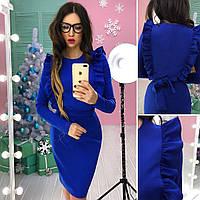 Платье с рюшами в расцветках АМС-1712.022(3)