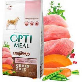 Optimeal (Оптимил) корм беззерновой корм для взрослых собак, индейка и овощи, 1,5 кг
