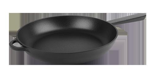 Чугунная сковорода с литой ручкой эмалированная (d=200 мм, h=35 мм ЭМ)