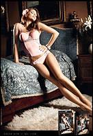 Бюстье Pink Bustier w Grey Lace Appliqu?s, M/L